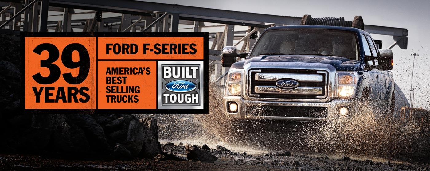 39 years ford f series banner
